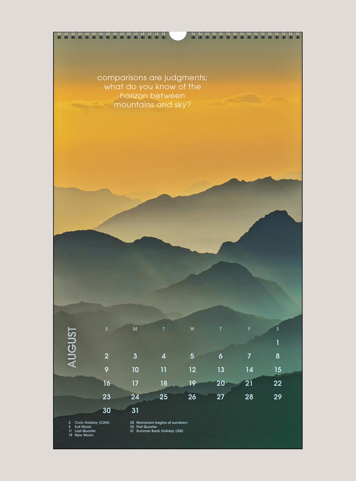 "2020 Mindful Meditations 12"" x 20"" BIG PICTURE™ CALENDAR"