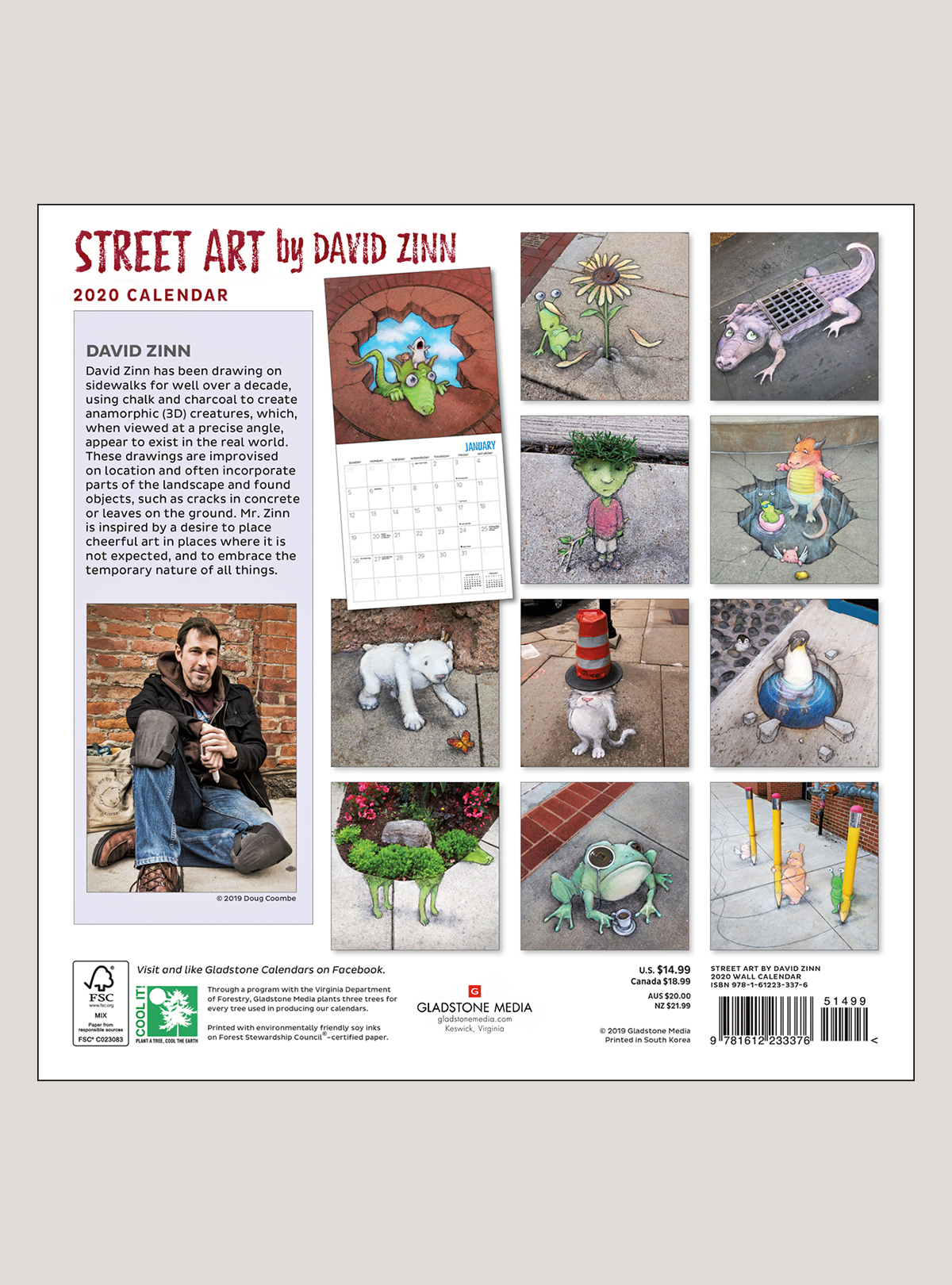 """2020 Street Art 12"""" x 12"""" WALL CALENDAR"""