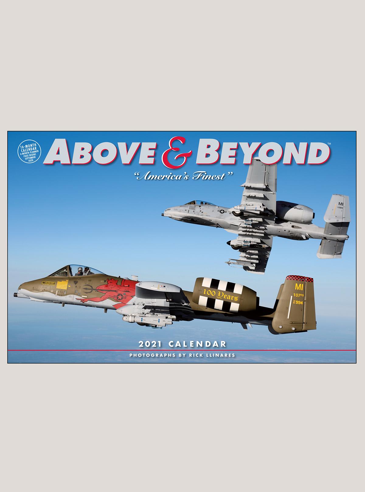 "2021 Above & Beyond 18"" x 12"" DELUXE WALL CALENDAR"