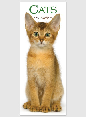 "Cats 2017 <br/> 9"" x 22"" Vertical Calendar"