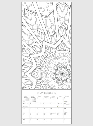 "Color All Year! 2017 <br/> 9"" x 22"" Vertical Calendar"