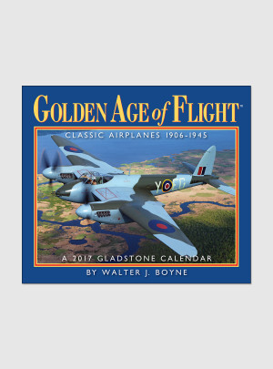 "Golden Age of Flight 2017 <br/> 5.25"" x 6.125"" Page Per Day Calendar"