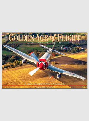 "Golden Age of Flight 2017 <br/> 11.75"" x 18"" Deluxe Calendar"