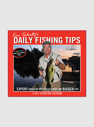 "Daily Fishing Tips 2017 <br/> 5.25"" x 6.125"" Page Per Day Calendar"