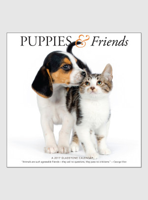 "Puppies & Friends 2017 <br/> 12"" x 12"" Wall Calendar"