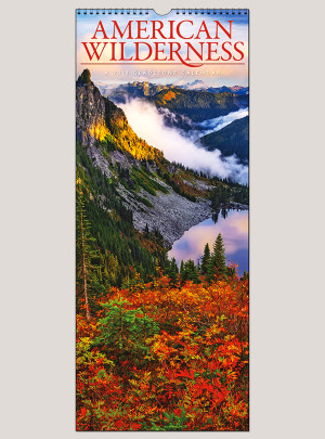 "2018 American Wilderness 9"" x 22"" Vertical Calendar"