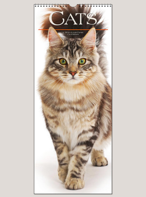 "2018 Cats 9"" x 22"" Vertical Calendar"