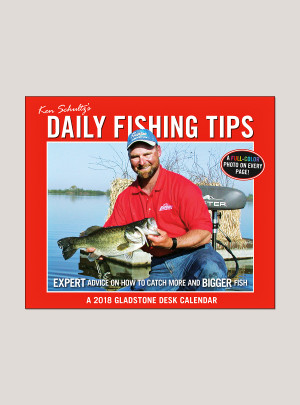 "2018 Daily Fishing 5.25"" x 4.25"" Page Per Day Calendar"