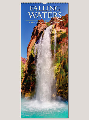 "2018 Falling Waters 9"" x 22"" Vertical Calendar"