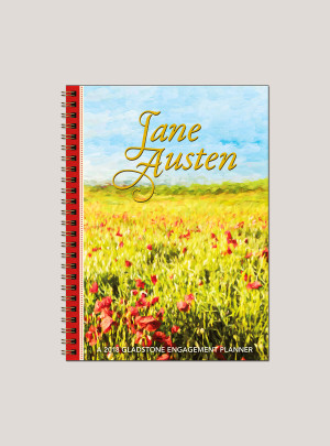 "2018 Jane Austen 6"" x 8.25"" Engagement Calendar"