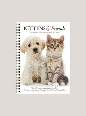 "2018 Kittens & Friends 6"" x 8.25"" Engagement Calendar"