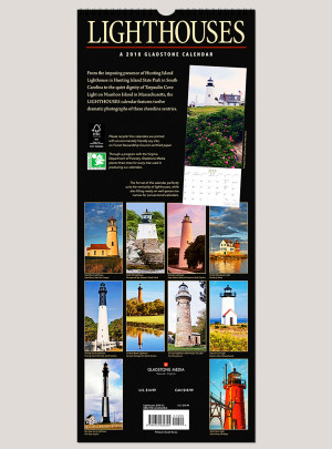 "2018 Lighthouses 9"" x 22"" Vertical Calendar"