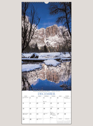 "2019 Falling Waters 9"" x 22"" VERTICAL WALL CALENDAR"