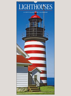 "2019 Lighthouses 9"" x 22"" VERTICAL WALL CALENDAR"