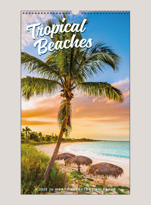 "2019 Tropical Beaches 12"" x 20"" BIG PICTURE™ CALENDAR"