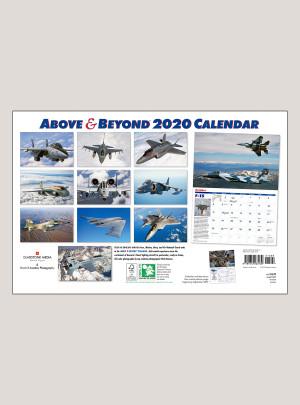 "2020 Above & Beyond 18"" x 12"" DELUXE WALL CALENDAR"