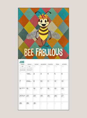 "2020 Bee Happy 7"" x 7"" MINI WALL CALENDAR"