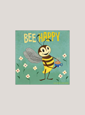 "2020 Bee Happy 7"" x 7"" MINI WALL CALENDAR"