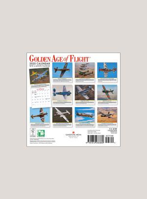 "2020 Golden Age of Flight 7"" x 7"" MINI WALL CALENDAR"