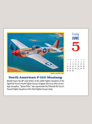 """2020 Golden Age of Flight 5.25"""" x 4.25"""" PAGE PER DAY CALENDAR"""