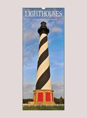 "2020 Lighthouses 9"" x 22"" VERTICAL WALL CALENDAR"