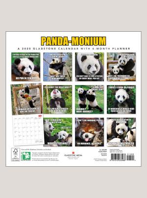 """2020 Panda-Monium 12"""" x 12"""" WALL CALENDAR"""