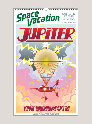 "2020 Space Vacation: Galactic Travel Posters 12"" x 20"" BIG PICTURE™ CALENDAR"