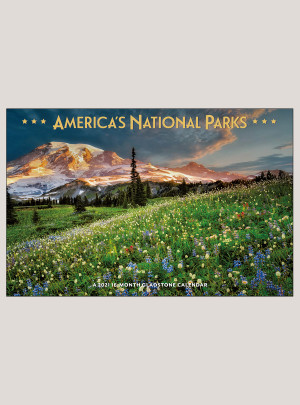 "2021 America's National Parks 18"" x 12"" DELUXE WALL CALENDAR"