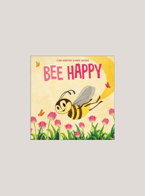 "2021 Bee Happy 7"" x 7"" MINI WALL CALENDAR"