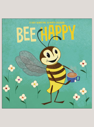 "2021 Bee Happy 12"" x 12"" WALL CALENDAR"