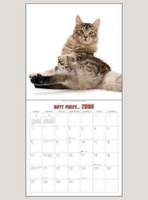 """2021 Butt First, Cats! 12"""" x 12"""" WALL CALENDAR"""