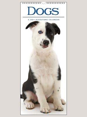 """2021 Dogs 9"""" x 22"""" VERTICAL WALL CALENDAR"""