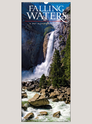 "2021 Falling Waters 9"" x 22"" VERTICAL WALL CALENDAR"