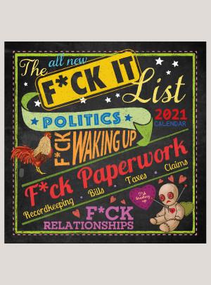 """2021 The F*ck It List 12"""" x 12"""" WALL CALENDAR"""