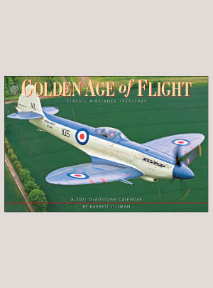 "2021 Golden Age of Flight 18"" x 12"" DELUXE WALL CALENDAR"
