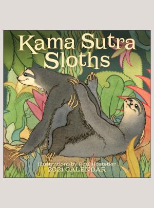 "2021 Kama Sutra Sloths 12"" x 12"" WALL CALENDAR"