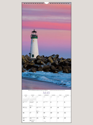 "2021 Lighthouses 9"" x 22"" VERTICAL WALL CALENDAR"