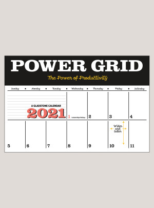 "2021 Power Grid 18"" x 12"" DELUXE WALL CALENDAR"