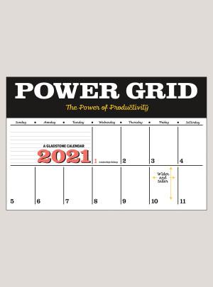"2021 Power Grid 18"" x 12"" DELUXE WALL CALENDAR"