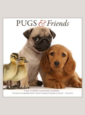 """2021 Pugs & Friends 12"""" x 12"""" WALL CALENDAR"""