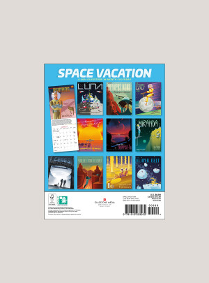"2021 Space Vacation 7"" x 9"" BIG MINI™ WALL CALENDAR"