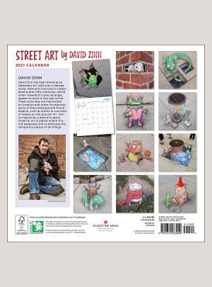 """2021 Street Art 12"""" x 12"""" WALL CALENDAR"""