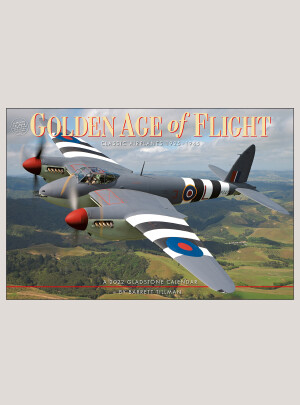 "2022 Golden Age of Flight 18"" x 12"" DELUXE WALL CALENDAR"