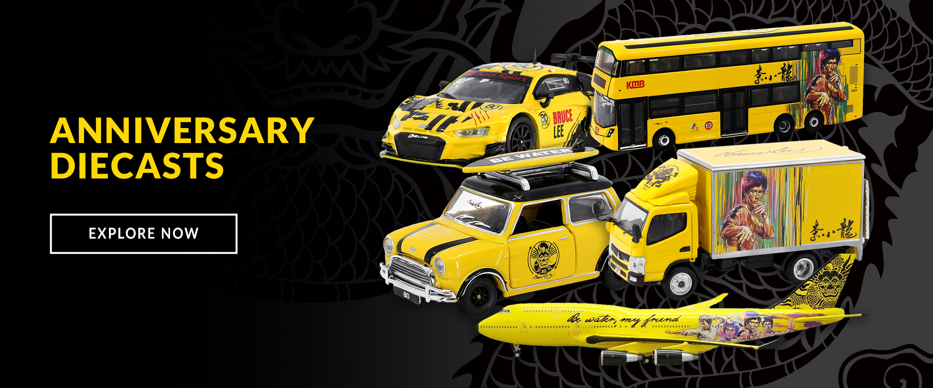 Bruce Lee 80th Anniversary Diecasts