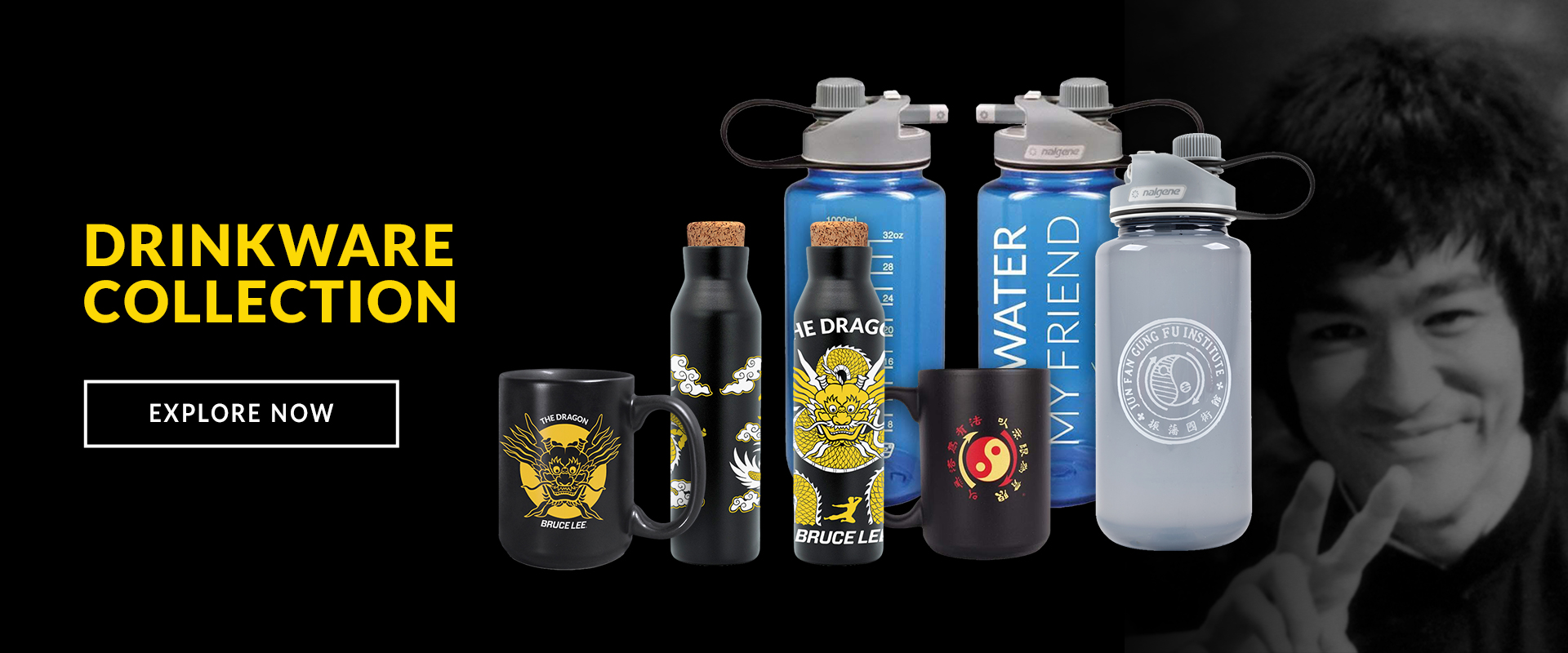 Bruce Lee Drinkware Collection