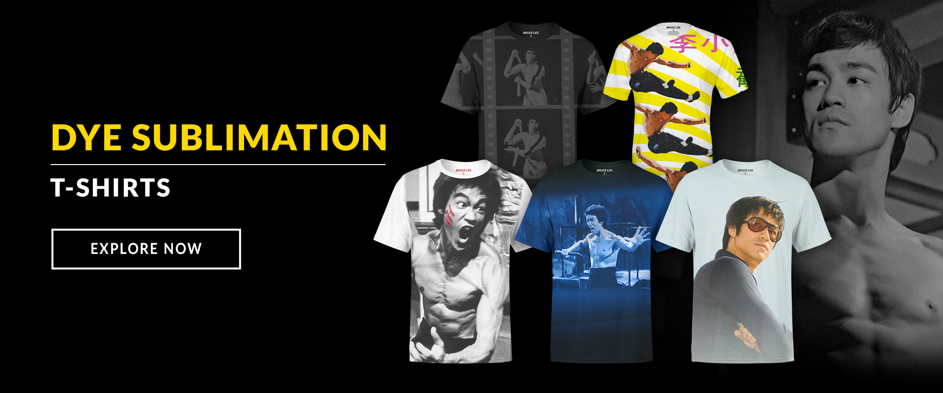 Bruce Lee Dye Sublimation Shirts