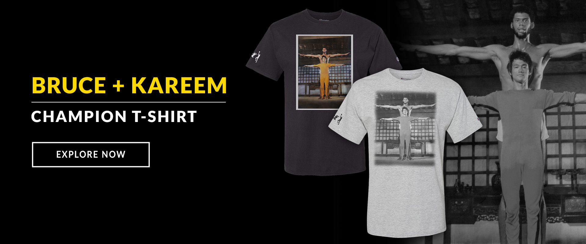 Bruce Lee Kareem Champion T-shirts