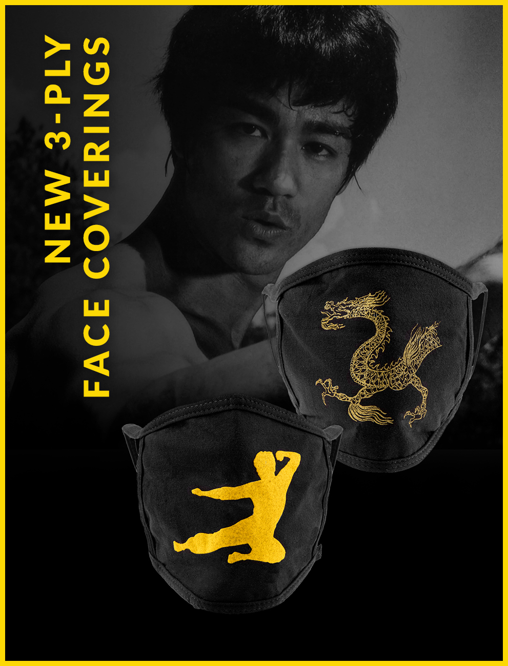 Bruce Lee 3-Ply Face Covering
