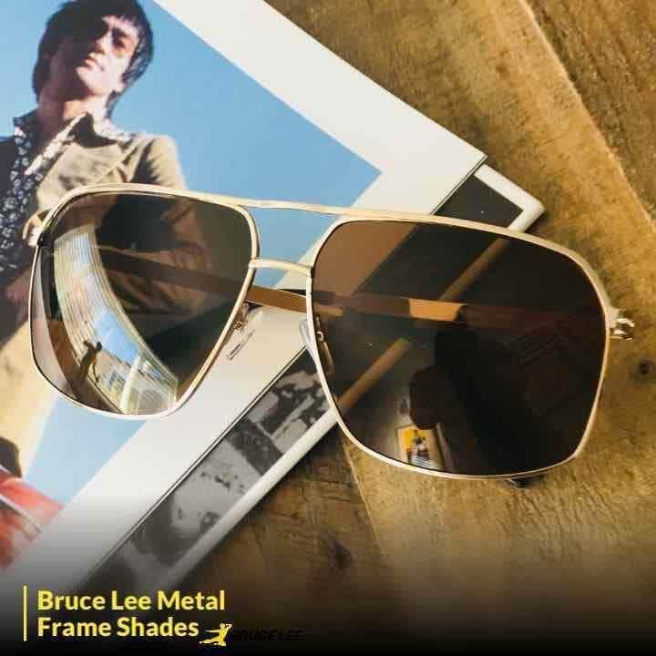 Bruce Lee Signature Metal Sunglasses w/ case