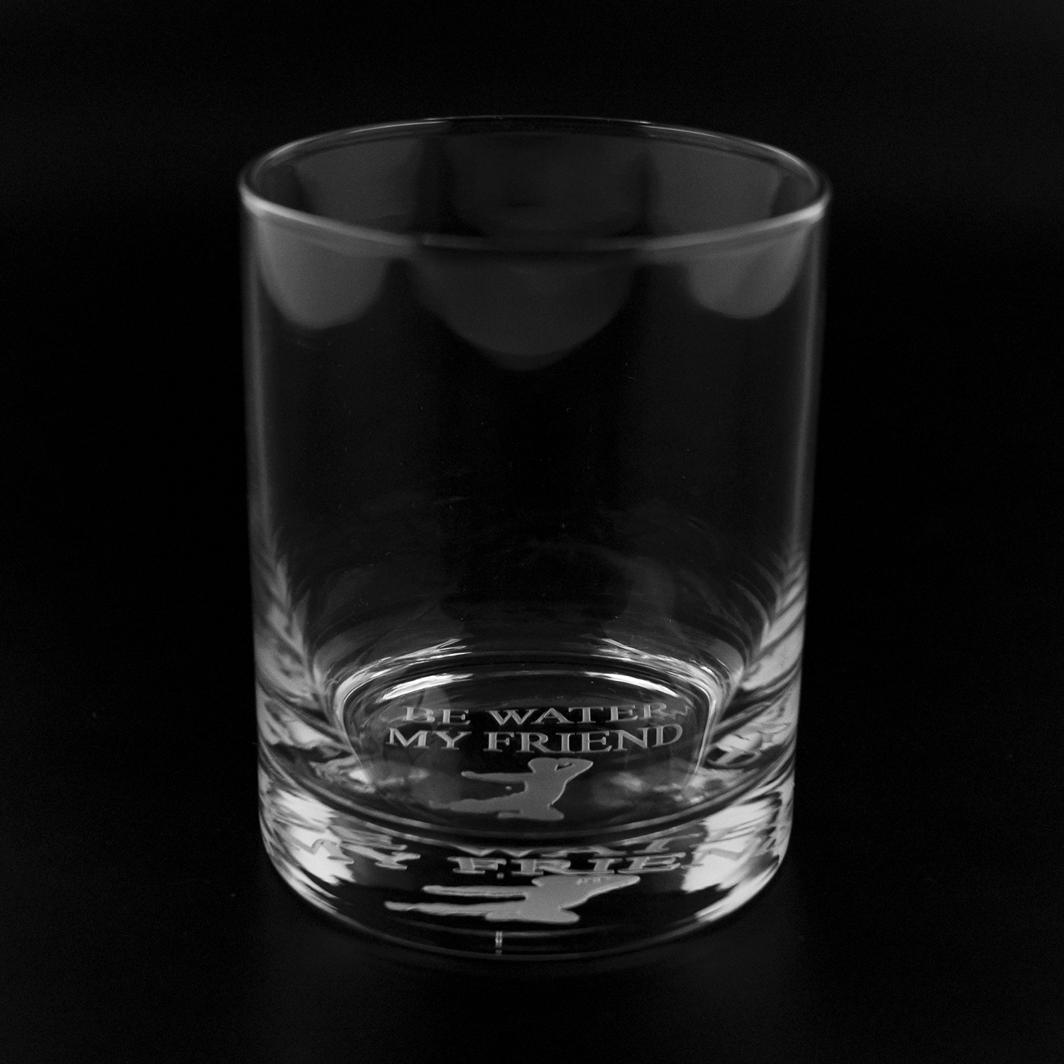 Be Water, My Friend 13.5oz. Etched Glass